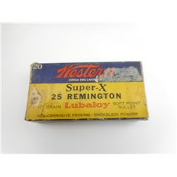WESTERN SUPER- X 25 REMINGTON AMMO