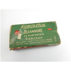 REMINGTON KLEANBORE 25 REMINGTON EXPRESS AMMO