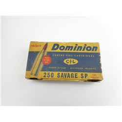 DOMINION 250 SAVAGE SP AMMO