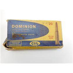 DOMINION 32 WINCHESTER SPECIAL AMMO