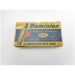 DOMINION 35 REMINGTON SOFT POINT AMMO