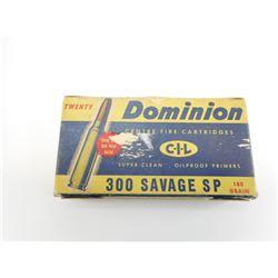 DOMINION & SUPER X 300 SAVAGE AMMO