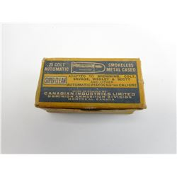 .25 COLT AUTOMATIC AMMO