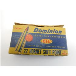 DOMINION 22 HORNET SOFT POINT AMMO