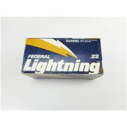 FEDERAL LIGHTNING 22 LONG RIFLE AMMO
