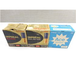 "IMPERIAL 12 GA. 2 3/4"" SHOT SHELLS AMMO, ACE SHOTSHELLS ASSORTED 12 GA.  2 3/4"" AMMO, ASSORTED SHOT"