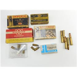 "WINCHESTER 30-30 AMMO, DOMINION 32 COLT AUTO AMMO, IMPERIAL 12 GA. 2 3/4"" SHOTGUN SHELLS, ASSORTED A"