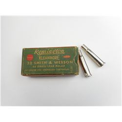 REMINGTON .32 SMITH & WESSON AMMO, 2 30-30 CHAMBER ADAPTORS