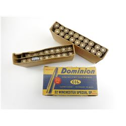 DOMINION .32 SPL AMMO, AND BRASS