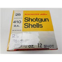 410 GA. SHOTGUN SHELLS WINCHESTER WESTERN
