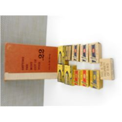 "ASSORTED .22 LONG RIFLE AMMO, BOOK ""GETTING THE MOST OUT OF YOUR .22"""