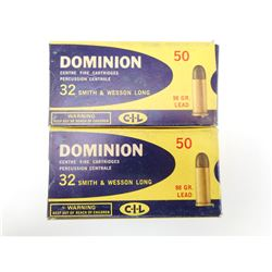 DOMINION 32 S & W LONG AMMO