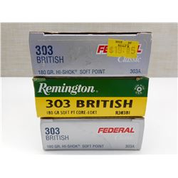 303 BRITISH AMMO ASSORTED