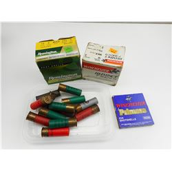 ASSORTED 12 GA. SHOTGUN SHELLS, PRIMERS