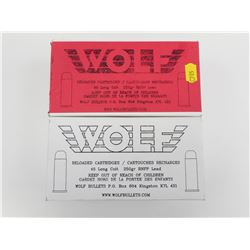 WOLF 45 LONG COLT RELOADED AMMO