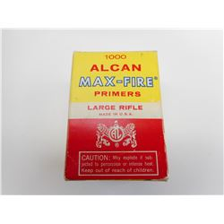 ALCAN MAX-FIRE LARGE RIFLE PRIMERS