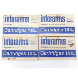 INTERARMS 7.5MM SWISS AMMO, BRASS