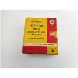 .577/.450 MARTINI-HENRY RIFLE AMMO