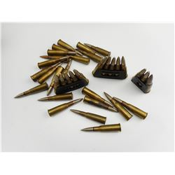 ".324"" DIA  (8MM LEBEL) AMMO SOME ON STRIPPER CLIPS"
