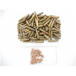 222 REM BRASS, AND .222 BULLETS