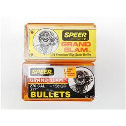 SPEER GRAND SLAM 270 CAL BULLETS
