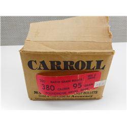 CARROLL 380 CALIBER BULLETS