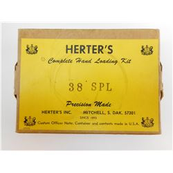 HERTERS 38 SPECIAL COMPLETE HAND LOADING KIT