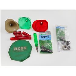 RCBS 50 CAL. SEATER PLUG PAK, SHELL HOLDERS, FUNNELS, PRIMER TRAY