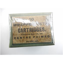 10 WRAPPED METAL CARTRIDGES, PATENTED DEC. 15 '63, CENTRE PRIMED COLLECTOR BOX
