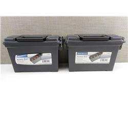 2 PLASTIC AMMO BOXES