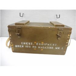 WOODEN MILITARY CRATE