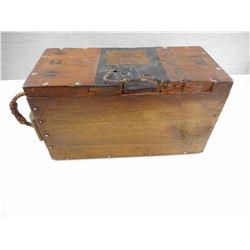 WOODEN B.L. SNIDER ARM CARTRIDGES AMMO BOX