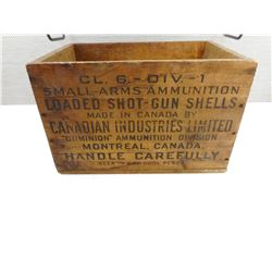 WOODEN DOMINION AMMO CRATE