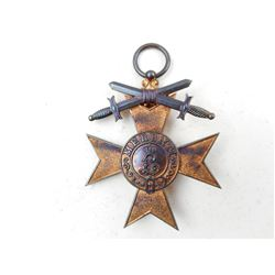 BAVARIAN WWI MILITARY MERIT CROSS MEDAL NO RIBBON