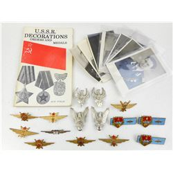 ASSORTED EUROPEAN FLIGHT PINS & U.S.S.R. INFO PIECES