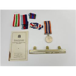 BRITISH WWII 1939-1945 WAR MEDAL WTH EMPTY RIBBON BAR