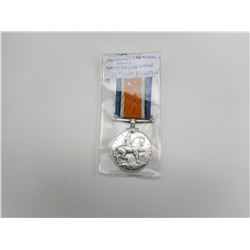CANADIAN WWII ENGRAVED WAR MEDAL WITH RIBBON