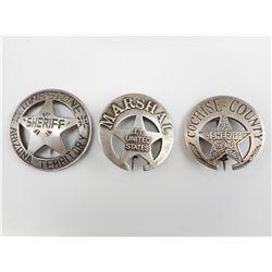 U.S. MARSHALL & SHERIFF BADGES