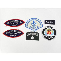 ASSORTED CANADIAN MILITARY & POLICE BADGES