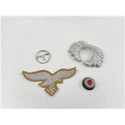 GERMAN WWII MILITARY BADGES & PINS
