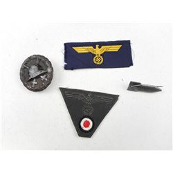 ASSORTED GERMAN WWII BADGES & PINS