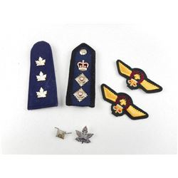 ASSORTED CANADIAN MILITARY/POLICE BADGES & EPAULETTES