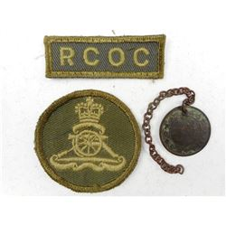 CANADIAN MILITARY BADGES & ANTIQUE COIN