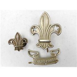 VINTAGE 1909 SCOUT BADGE & COLLAR PIN