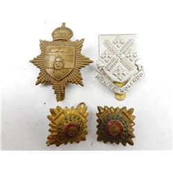 BRITISH OFFICER'S TRAINING CORPS CAP BADGES & PIPS
