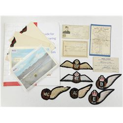 R.A.F. & R.C.A.F. BADGES AND VETERANS WITH POSTCARDS & BOOKLET