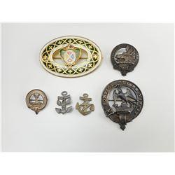 ASSORTED UK CAP/COLLAR BADGES & PINS