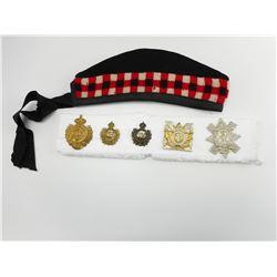 BRITISH / CANADIAN CAP & COLLAR BADGES WITH GLENGARRY