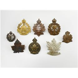 ASSORTED CANADIAN (ONTARIO)  BATTALION CAP BADGES