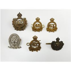 LANARK & RENFREW 42ND BATTALION CAP & COLLAR BADGES